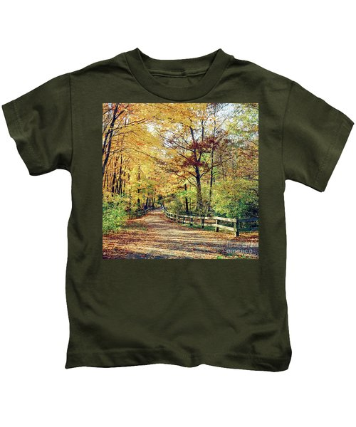 A Colorful Walk Kids T-Shirt
