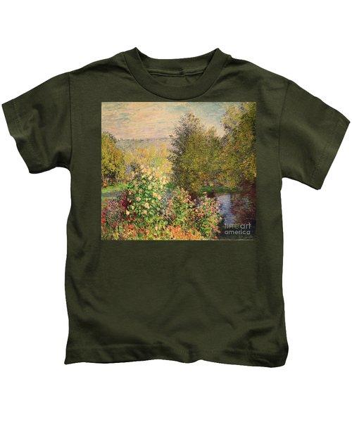 A Corner Of The Garden At Montgeron Kids T-Shirt