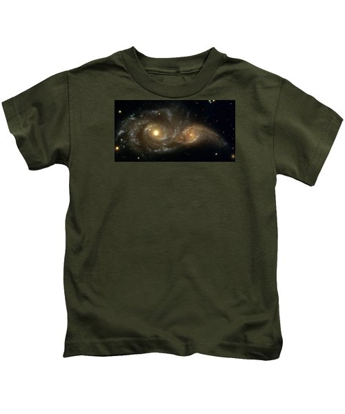A Grazing Encounter Between Two Spiral Galaxies Kids T-Shirt
