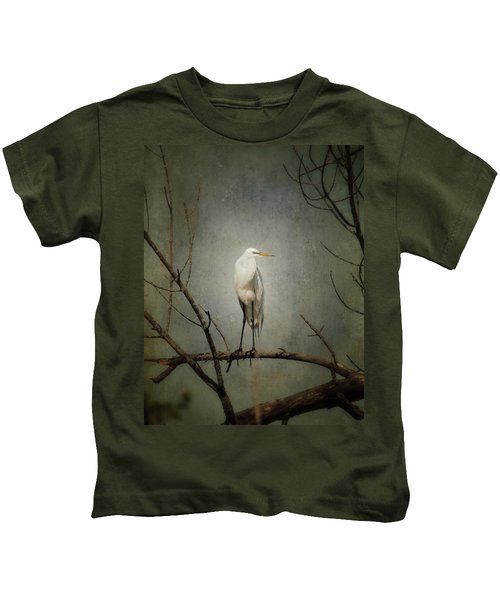 A Great Egret Kids T-Shirt