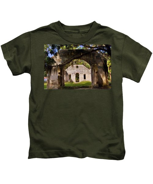 A Look Into The Chapel Of Ease St. Helena Island Beaufort Sc Kids T-Shirt