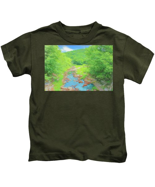 A Peaceful Summer Day In Southern Vermont. Kids T-Shirt