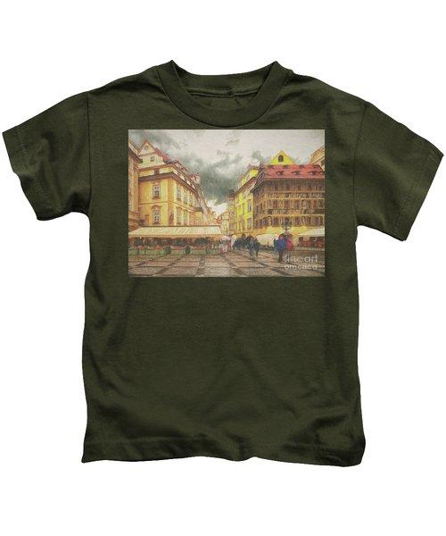 A Rainy Day In Prague Kids T-Shirt