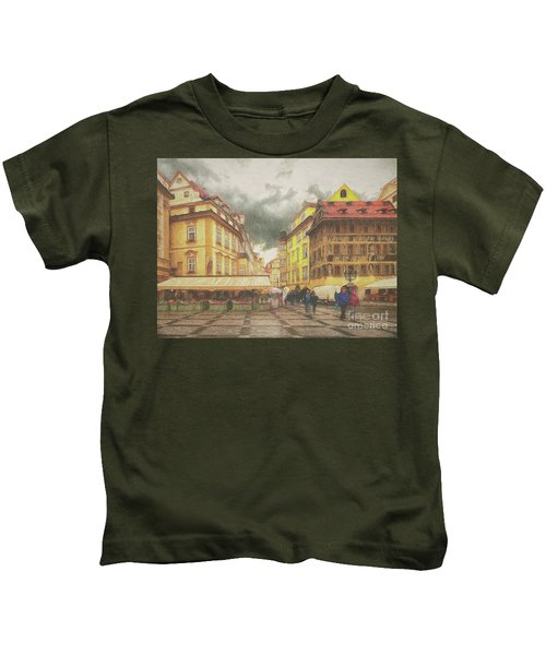 A Rainy Day In Prague Kids T-Shirt