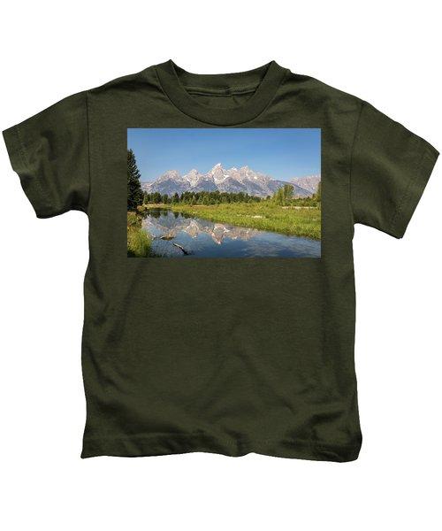 A Reflection Of The Tetons Kids T-Shirt