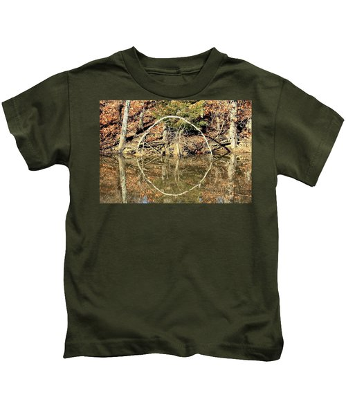 A Ring On The Pond In Fall Kids T-Shirt