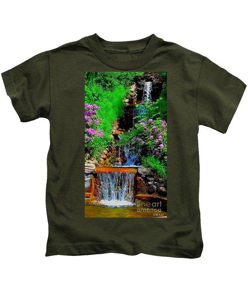 A Small Waterfall In Hbg Sweden Kids T-Shirt