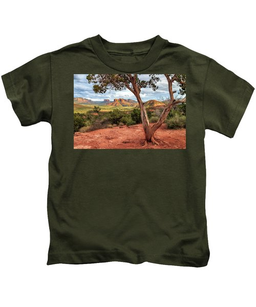 A Tree In Sedona Kids T-Shirt