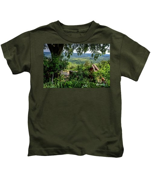 A View From Groznjan Of The Istrian Hill Town Countryside, Istria, Croatia Kids T-Shirt