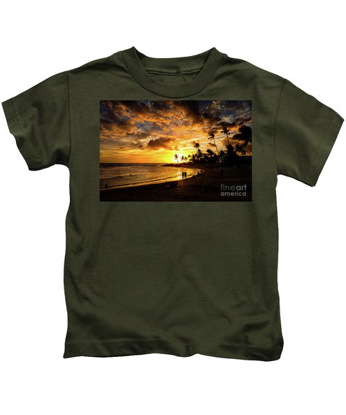 A Walk On The Beach Kids T-Shirt