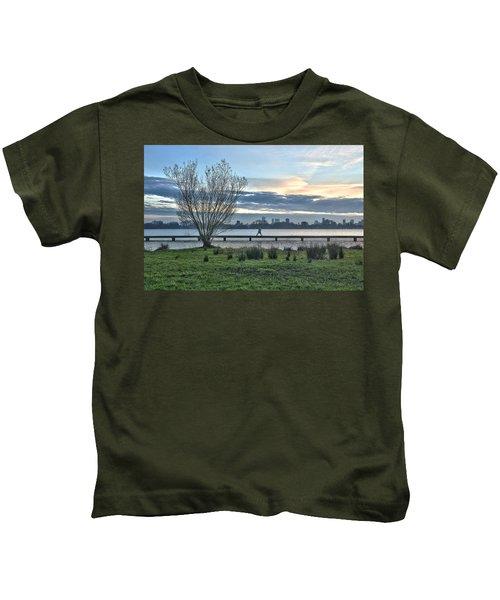 A Walk Through The Lake Kids T-Shirt