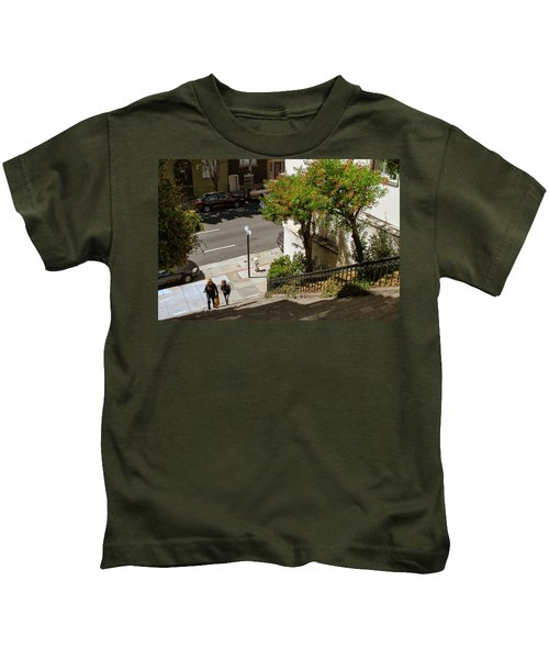 A Walk Up Joice St Steps Kids T-Shirt
