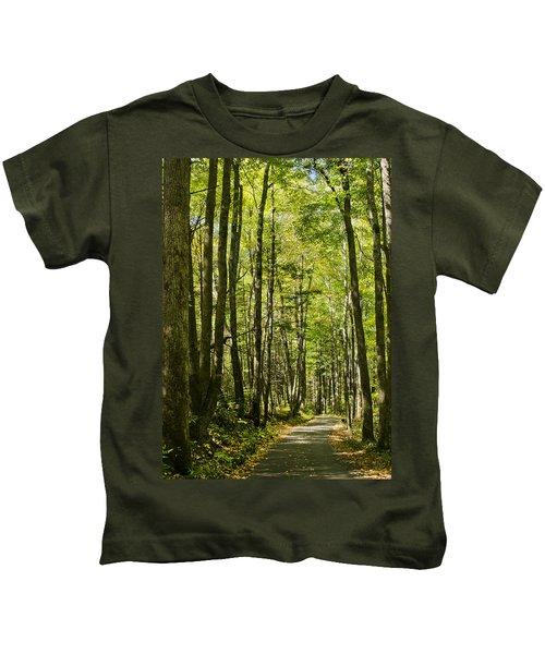 A Woodsy Trail Kids T-Shirt