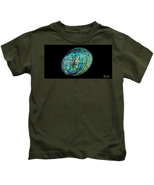 Abalone On Black Kids T-Shirt
