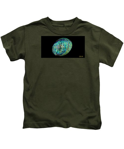 Abalone On Black Kids T-Shirt
