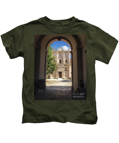 Abbey Of The Holy Spirit At Morrone In Sulmona, Italy Kids T-Shirt