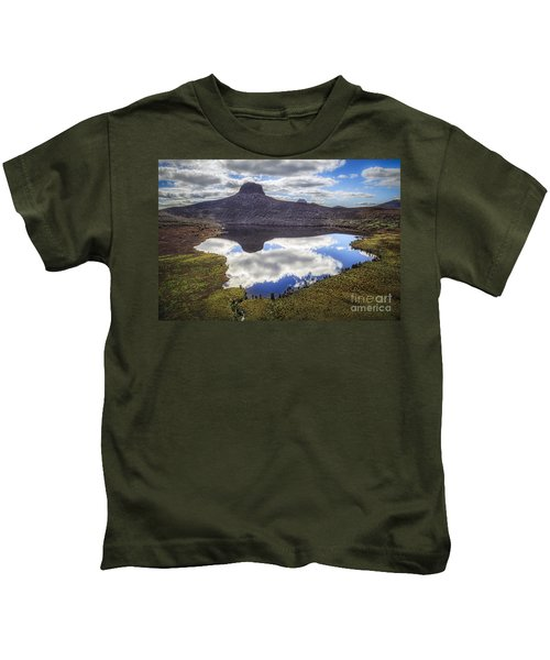 Above The Earth. Below The Sky. Kids T-Shirt