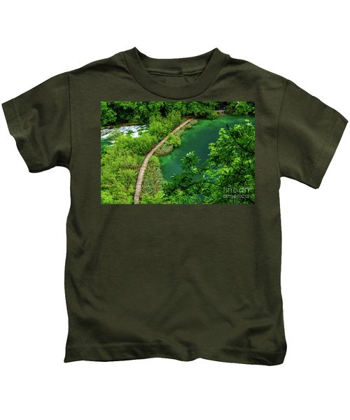 Above The Paths At Plitvice Lakes National Park, Croatia Kids T-Shirt