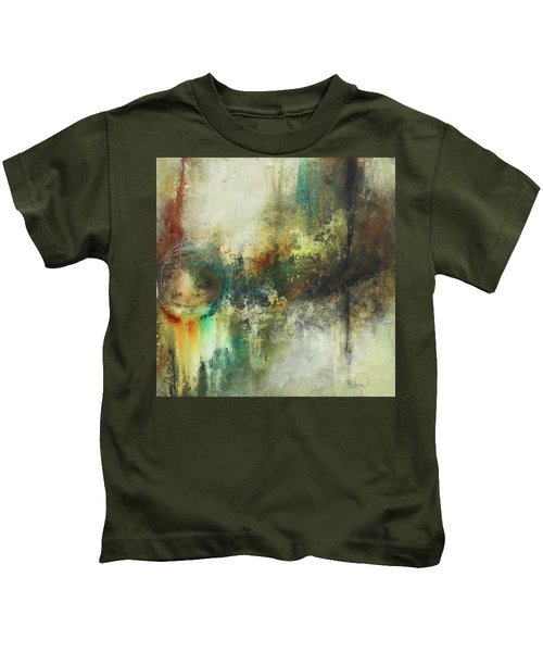Abstract Art With Blue Green And Warm Tones Kids T-Shirt