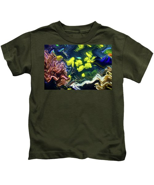Abstract Dancing Colorful Ish Kids T-Shirt