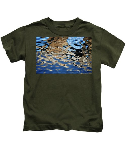 Abstract Dock Reflections I Color Kids T-Shirt