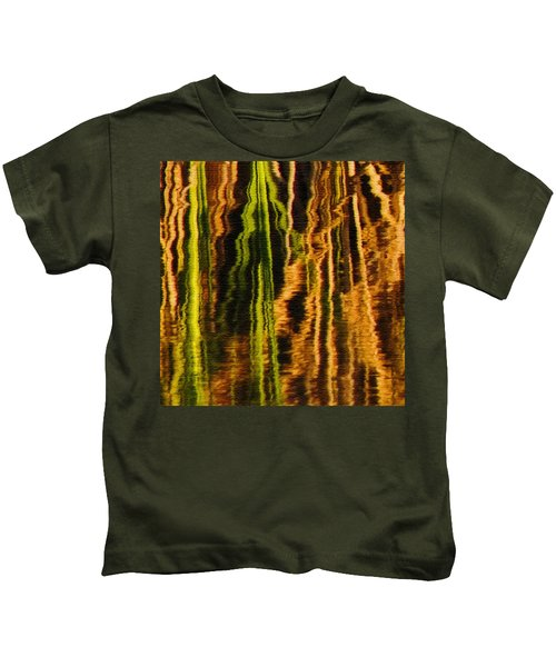 Abstract Reeds Triptych Middle Kids T-Shirt