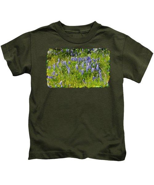 Abundance Of Blue Bonnets Kids T-Shirt
