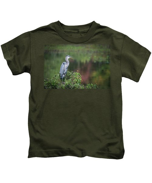 Advice From A Great Blue Heron Kids T-Shirt
