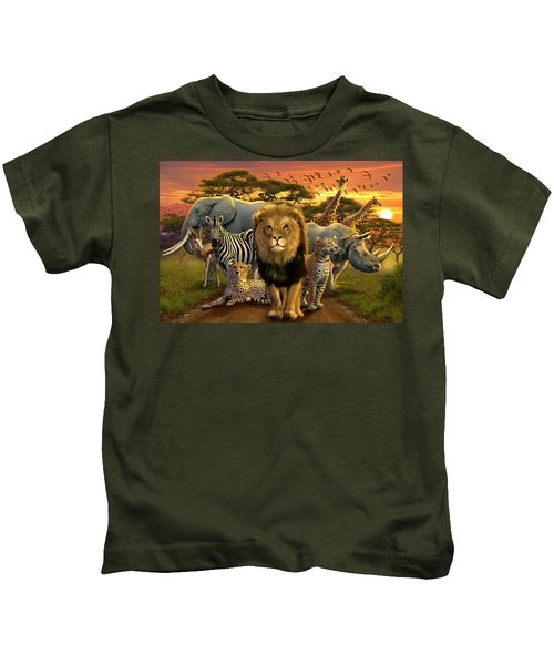 African Beasts Kids T-Shirt