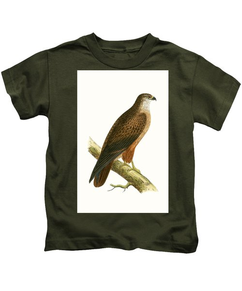 African Buzzard Kids T-Shirt by English School