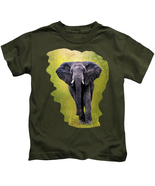 African Elephant Kids T-Shirt