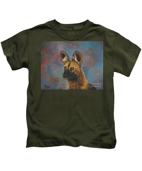 African Painted Wild Dog Kids T-Shirt