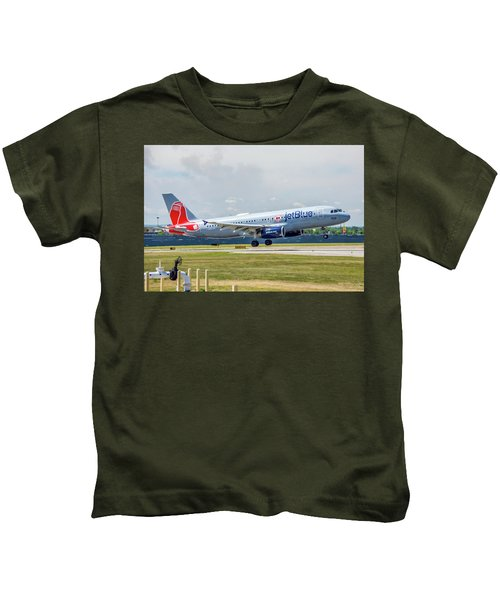 Airbus A320 Boston Strong Kids T-Shirt