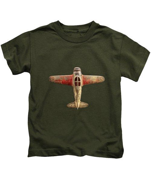 Airplane Scrapper On Black Kids T-Shirt