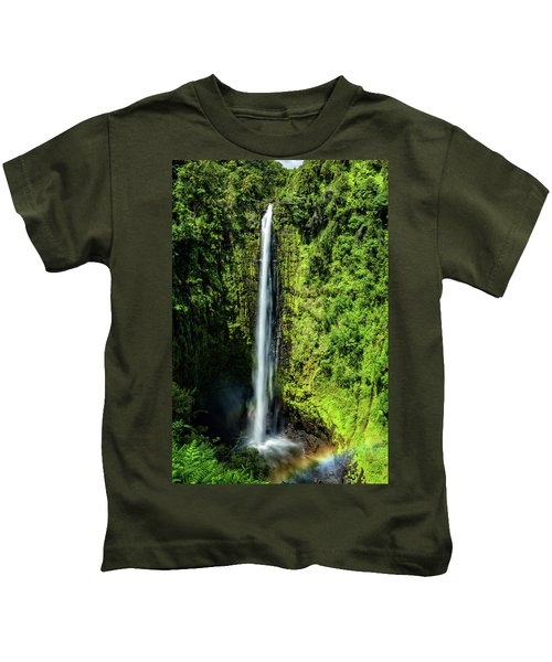 Akaka Falls With Rainbow Kids T-Shirt
