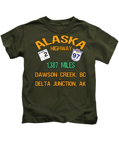 Alaska Highway Kids T-Shirt