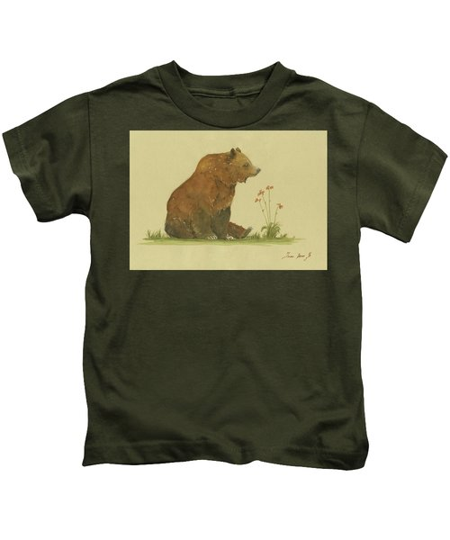 Alaskan Grizzly Bear Kids T-Shirt