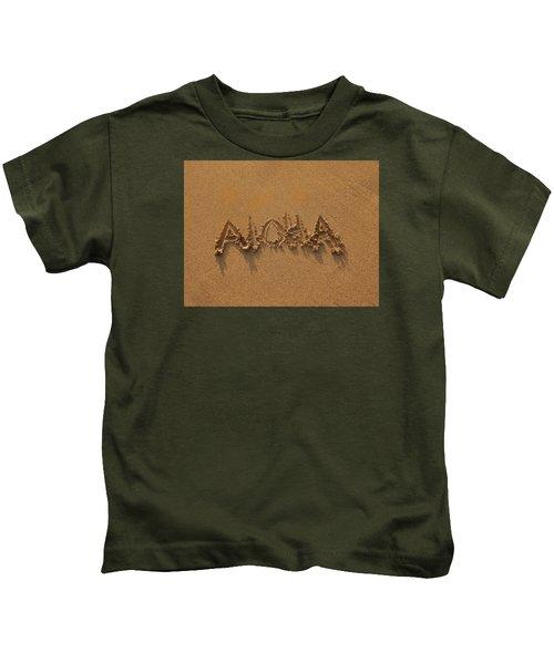 Aloha In The Sand Kids T-Shirt