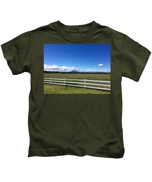 Along The Fence Line Kids T-Shirt