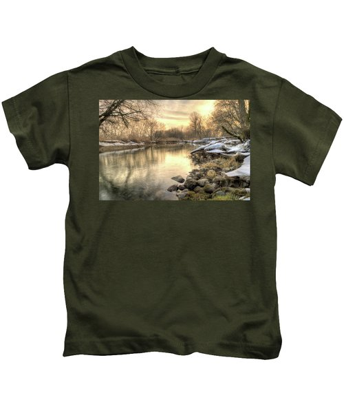 Along The Thames River Signed Kids T-Shirt