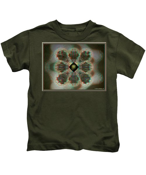 Alpha Waves - View With Red-cyan 3d Glasses Kids T-Shirt