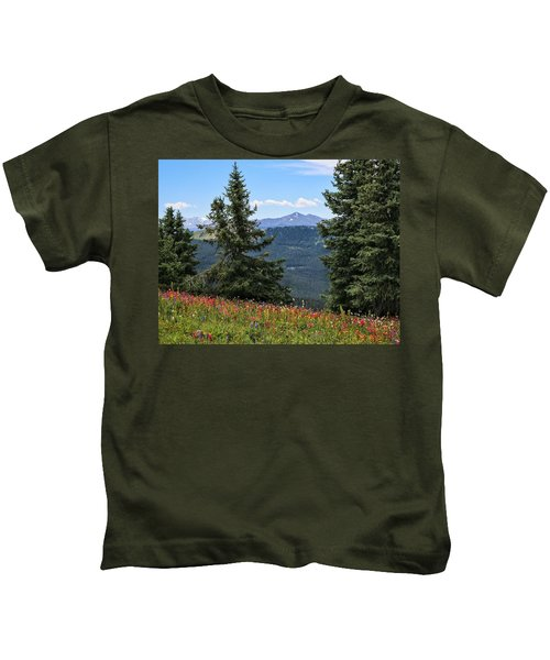 Alpine Wildflower Meadow Kids T-Shirt