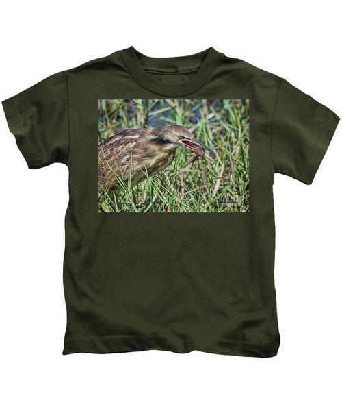 Am Bittern And Crayfish Kids T-Shirt