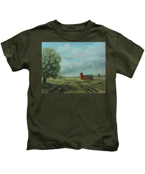 American Scene Red Barn  Kids T-Shirt