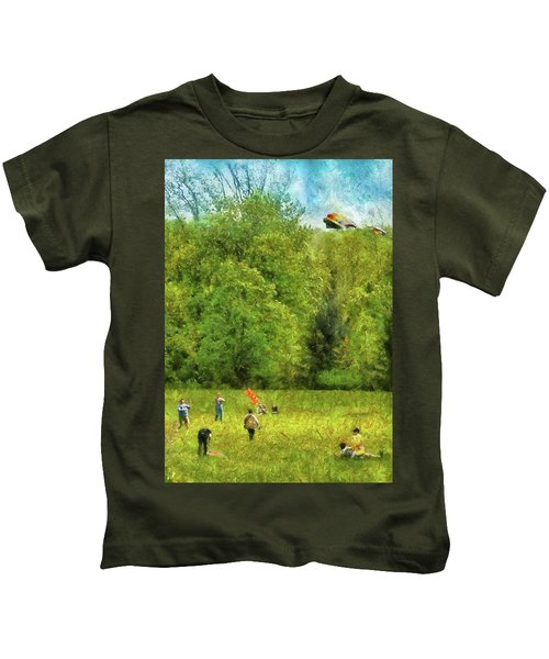 Americana - People - Let's Go Fly A Kite Kids T-Shirt