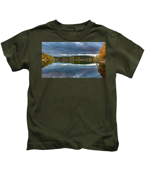 An Autumn Evening At The Lake Kids T-Shirt