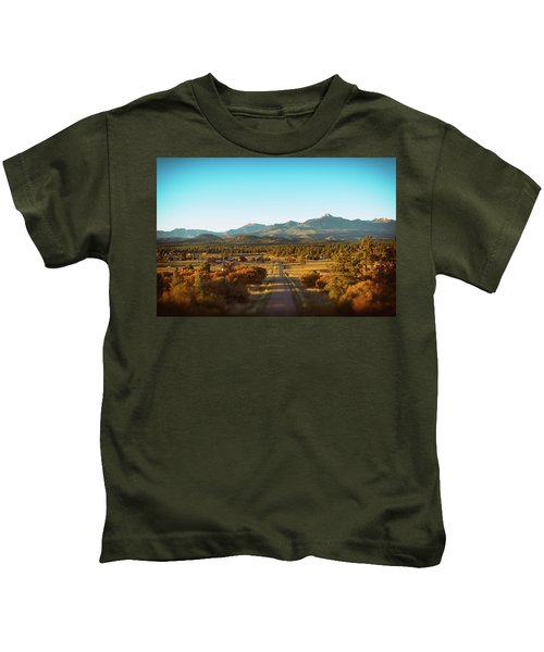 An Autumn Evening In Pagosa Meadows Kids T-Shirt