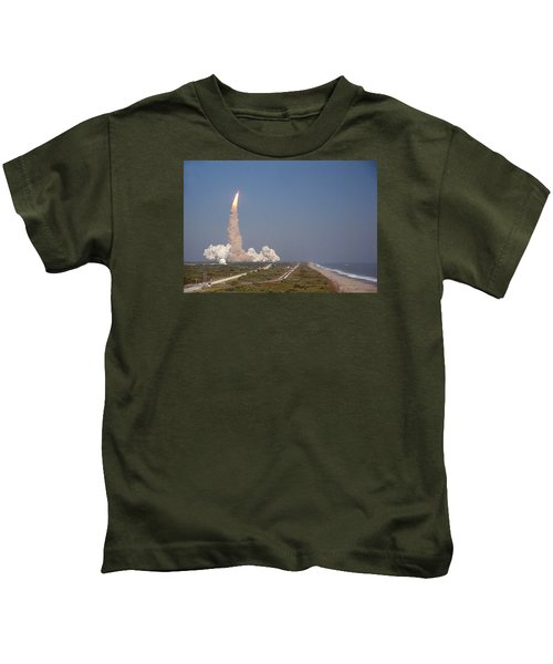 An Oceanside View Of The Sts-29 Discovery Launch From Pad 39b. Kids T-Shirt