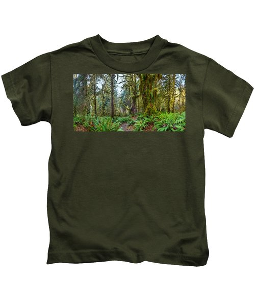 Ancient Forest Panorama Kids T-Shirt
