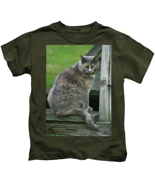 Angry Cat Named Bird Kids T-Shirt